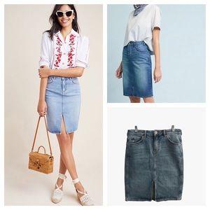 Pilcro Anthropologie Classic Denim Skirt Size 6